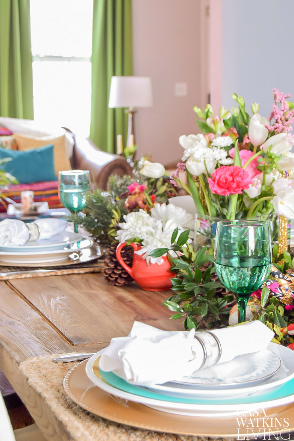 global style holiday table decorating tips