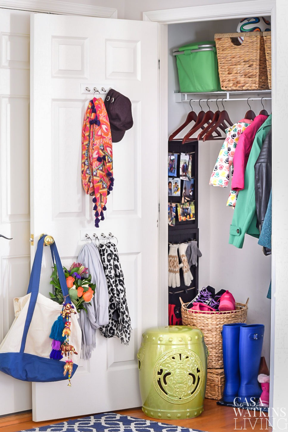 Entryway closet makeover reveal