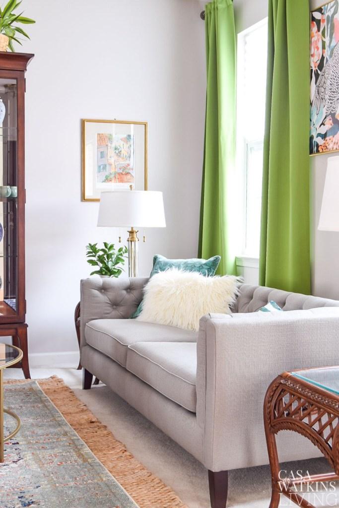 Colorful Global Eclectic Living Room - Casa Watkins Living