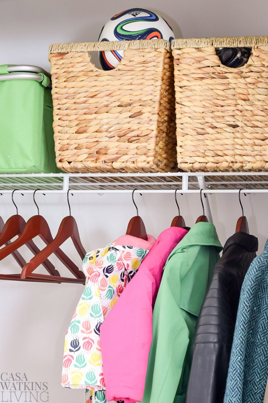 how to organize entryway closet