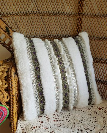 DIY Hadira Inspired pillow via A Designer At Home