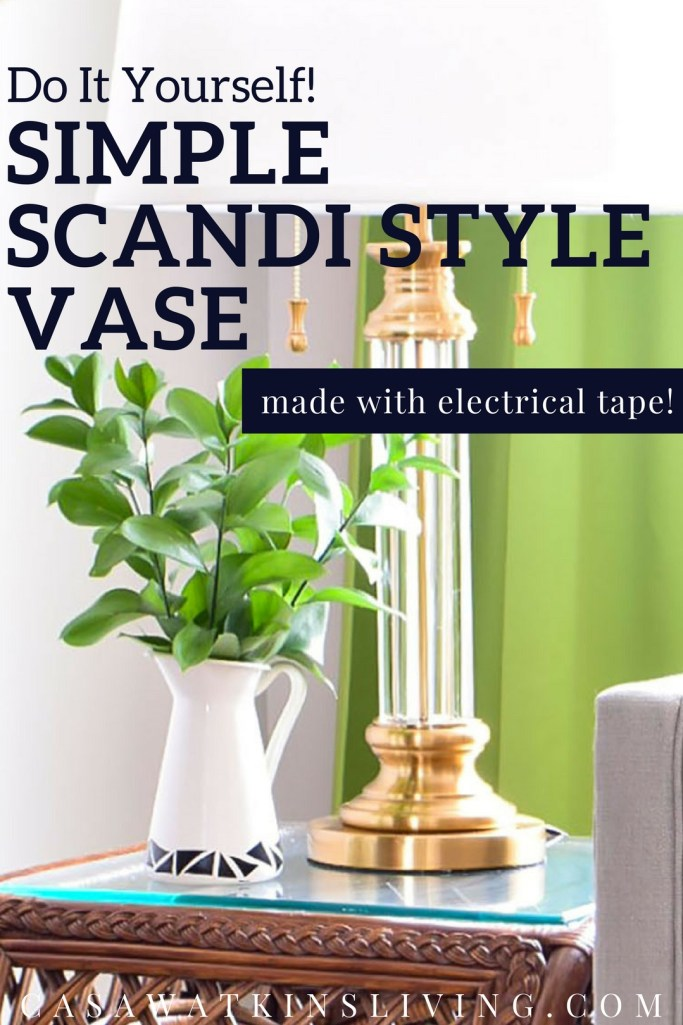 How to make Scandi style pitcher vase with tape