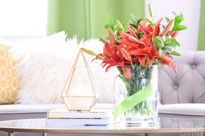 kick off spring decorating with simple vase makeover