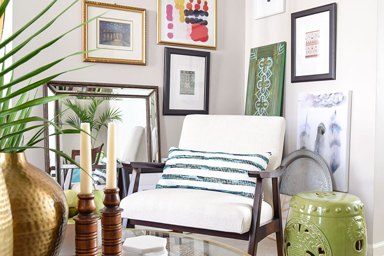 Shop The Tour: Colorful Global Eclectic Living Room