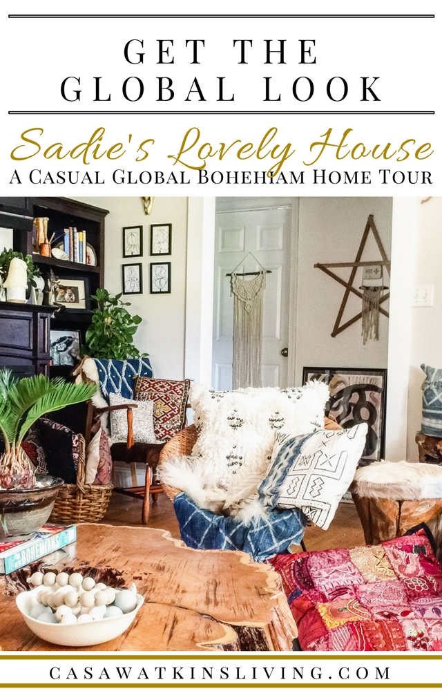 A curated casual global bohemian home tour