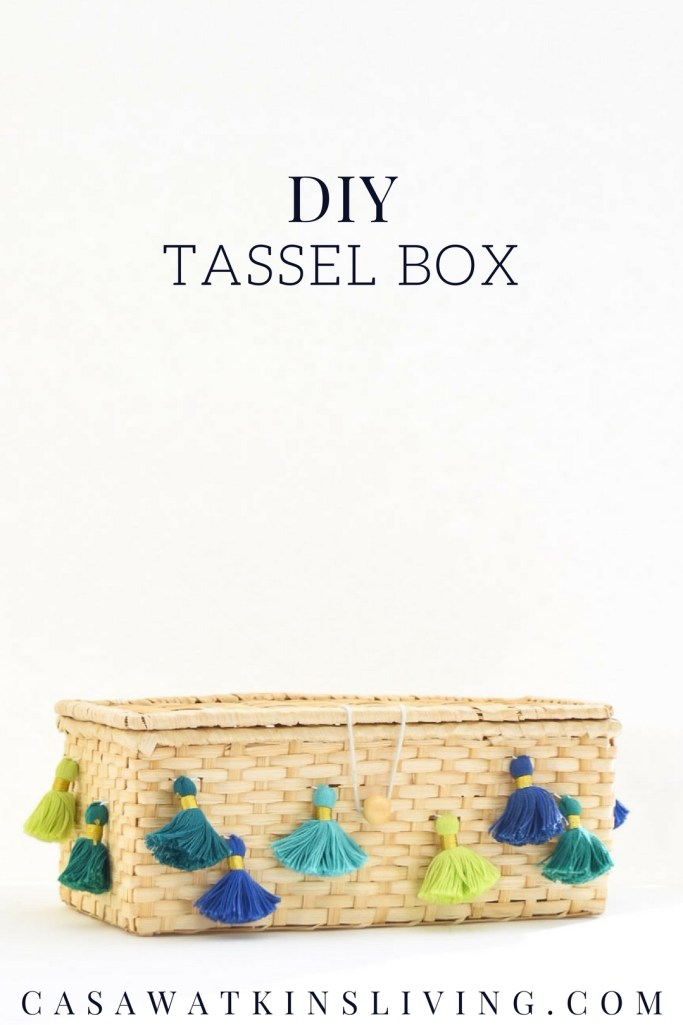 DIY moroccan inspired tassel box