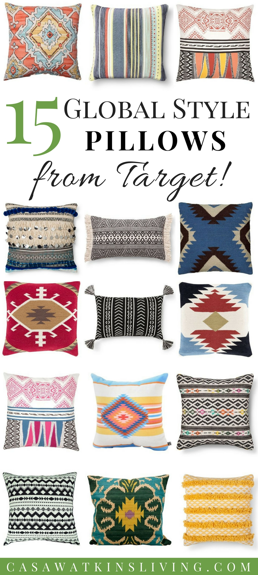 global style pillows from Target!
