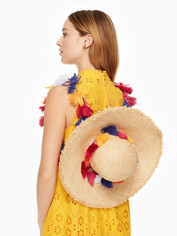 kate spade tassel backpack hat