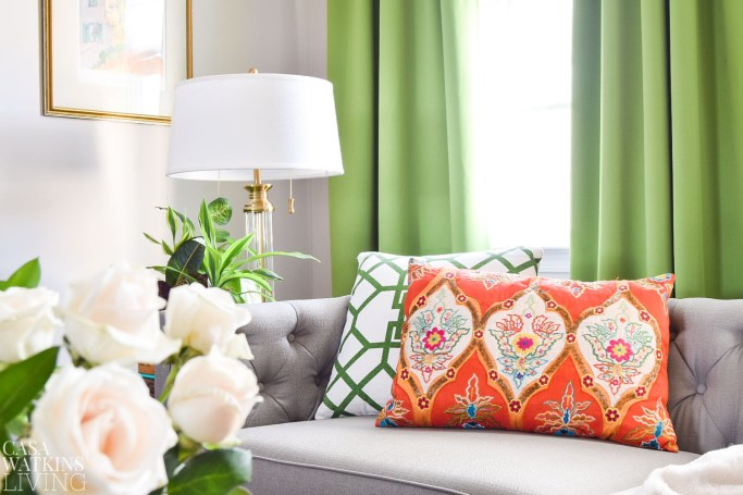 global style indian pillow decor in global style living room