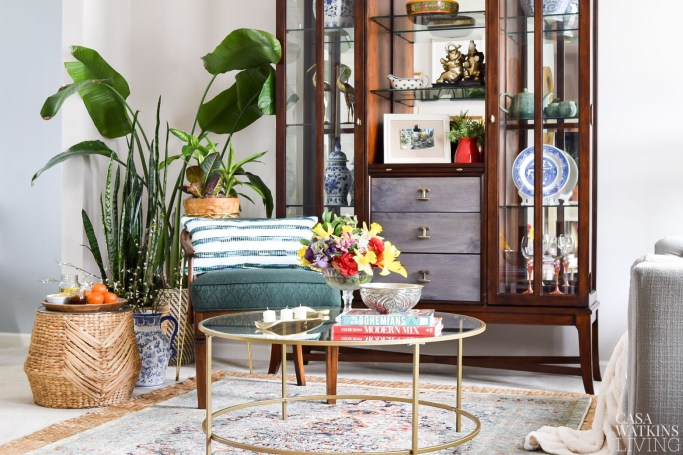 botanical spring home tour with global style