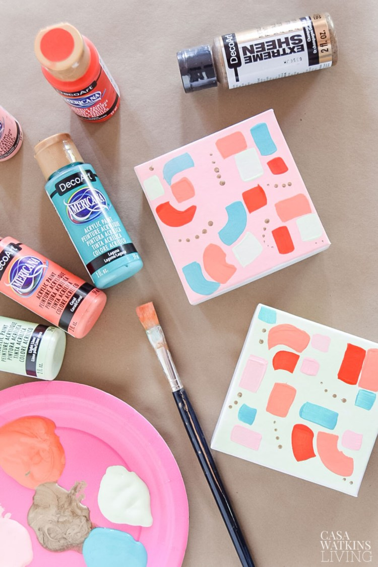 diy colorful painted gift boxes
