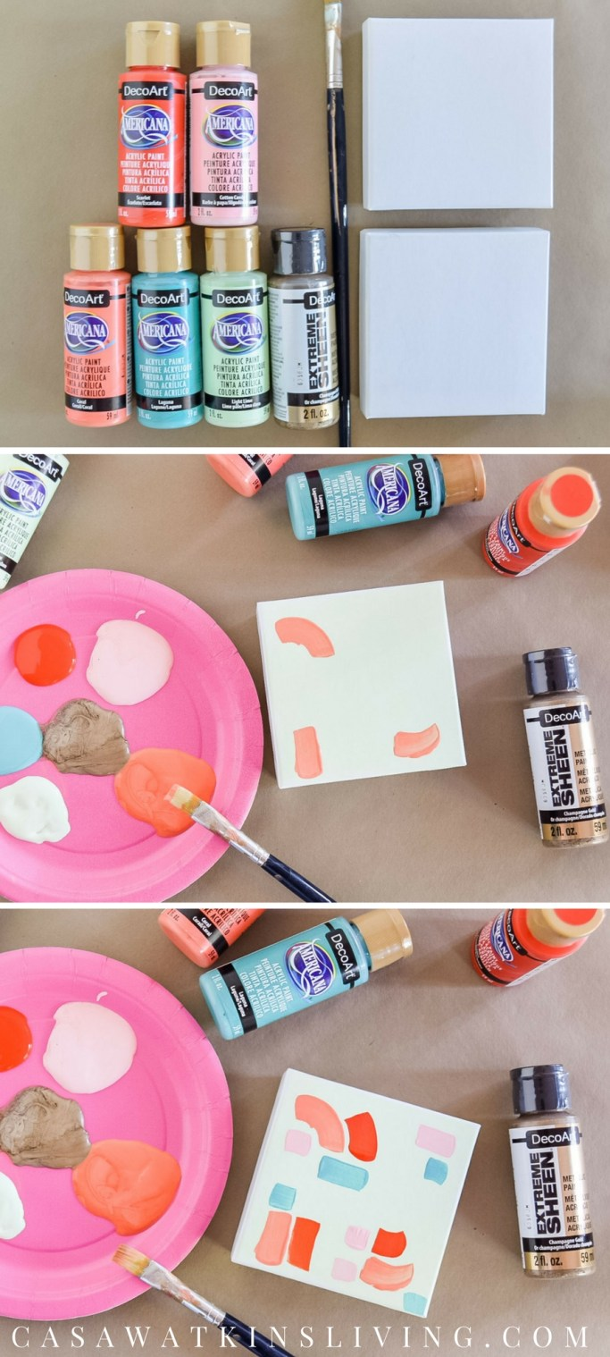 how to paint plain white gift boxes