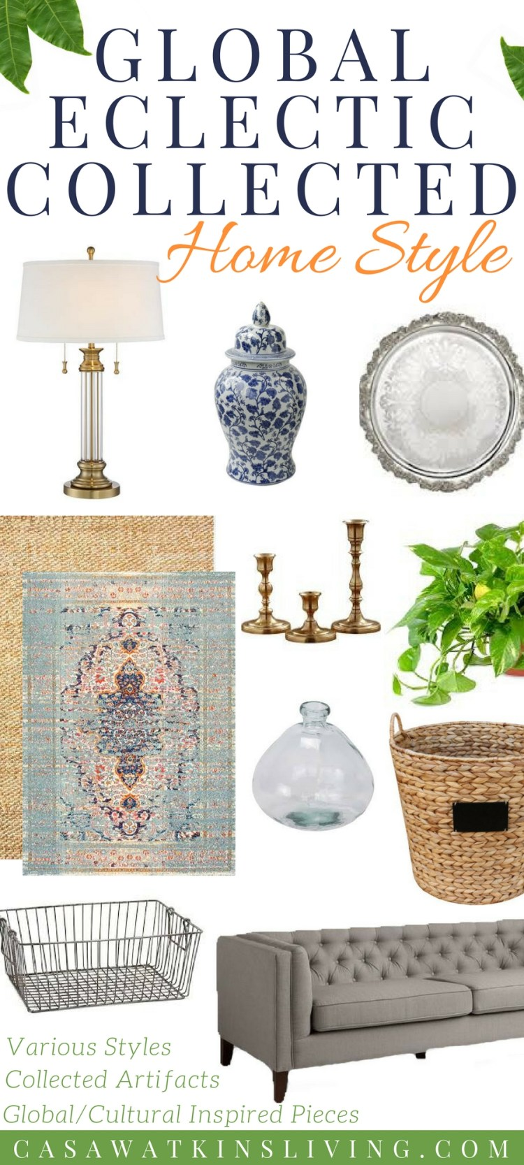 global eclectic collected home decor style