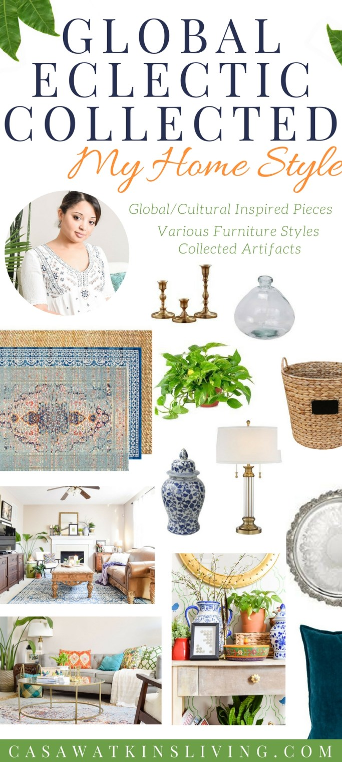 Global eclectic home decor with collected stying