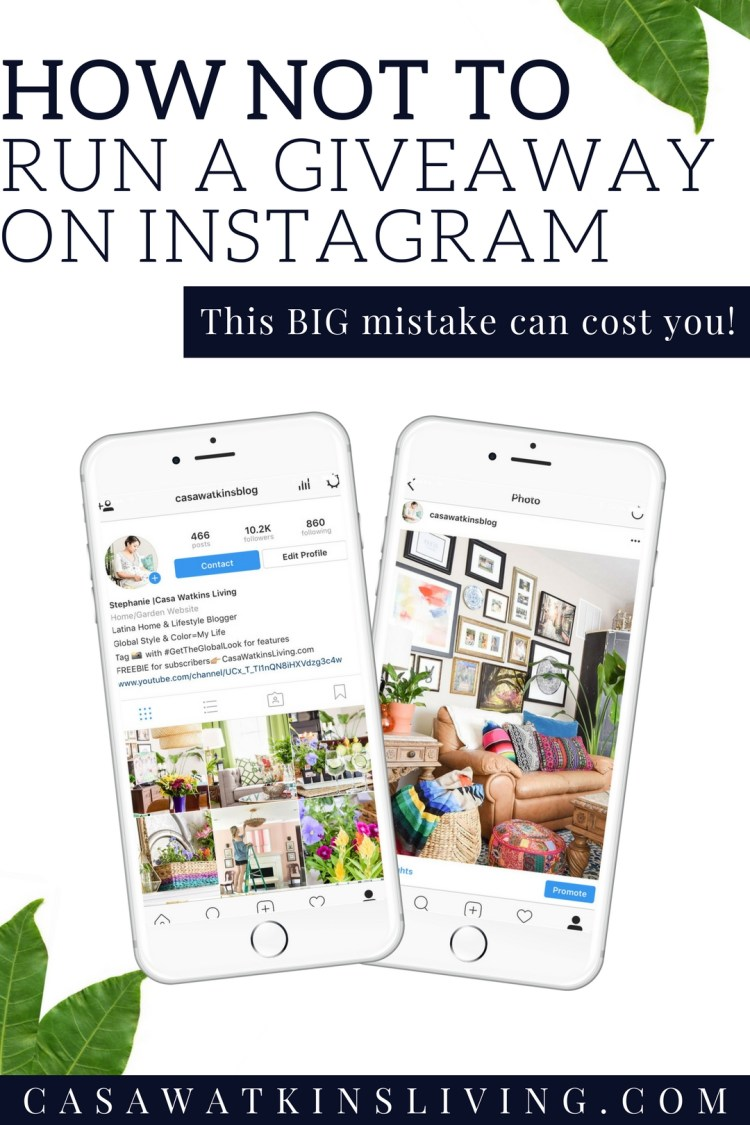 the biggest mistake you can make running an instagram giveaway!