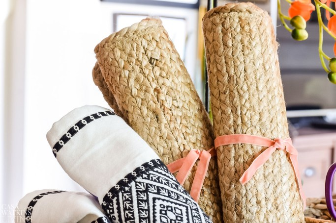 use placemats for diy craft areas