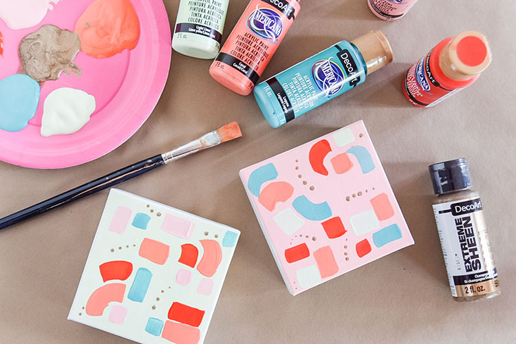 DIY Painted Gift Boxes