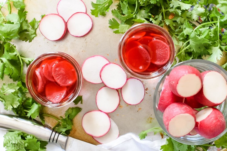 pickled radish with red wine vinegar