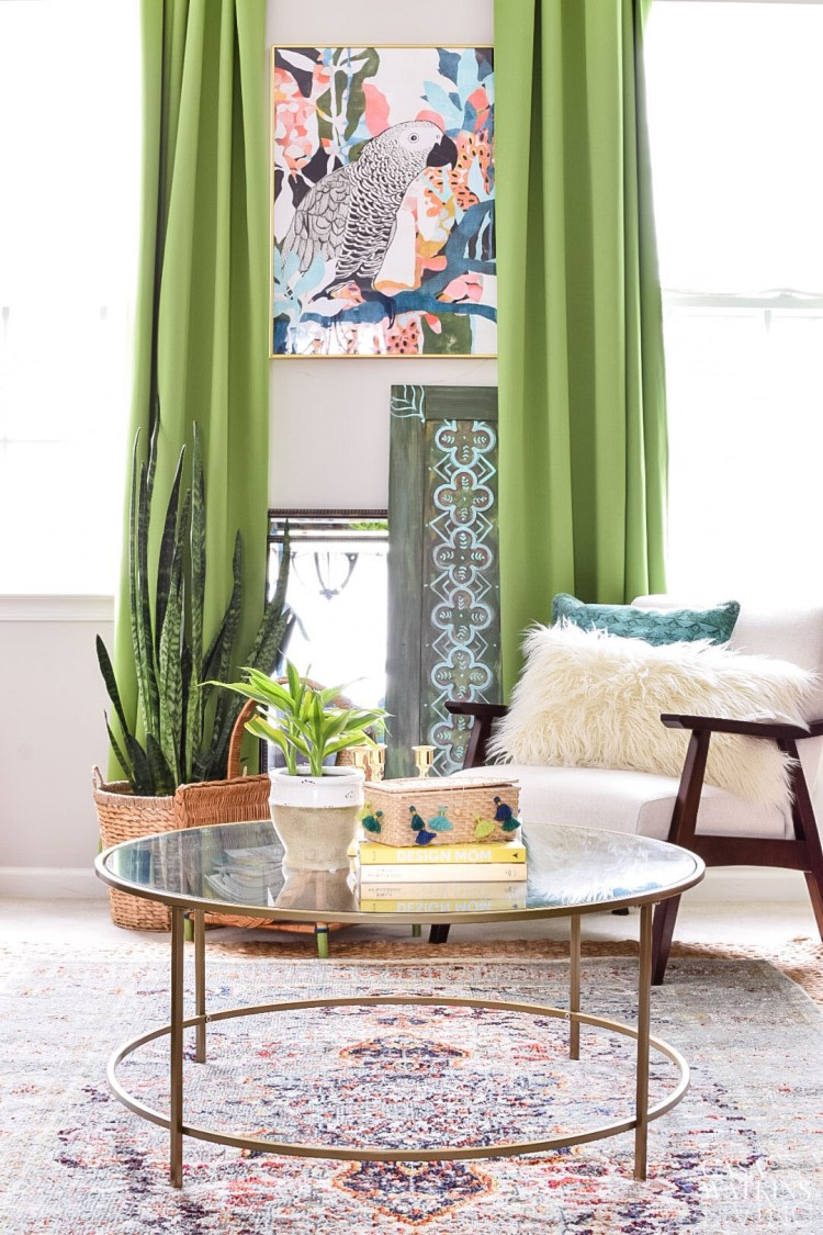 colorful global style living room