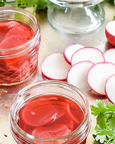 Quick Pickled Radish With Red Wine Vinegar