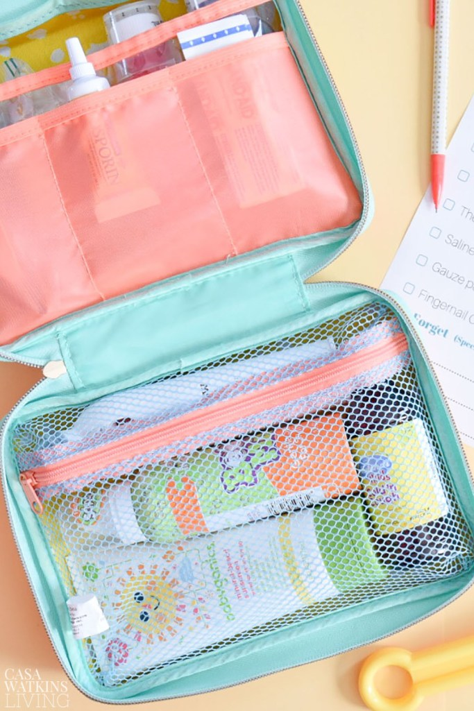 what to pack in your family's traveling medical kit
