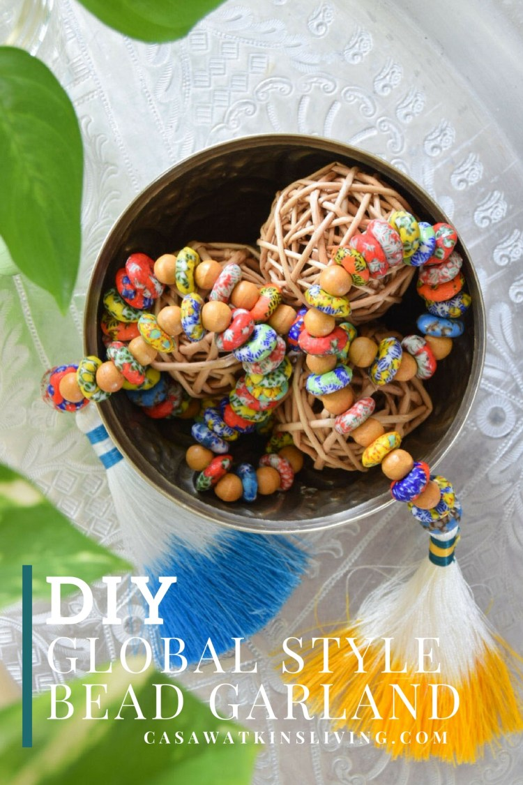diy global style bead garland