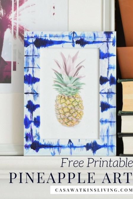 Free printable pineapple art