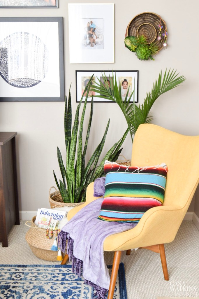 how to decorate global style living room nook