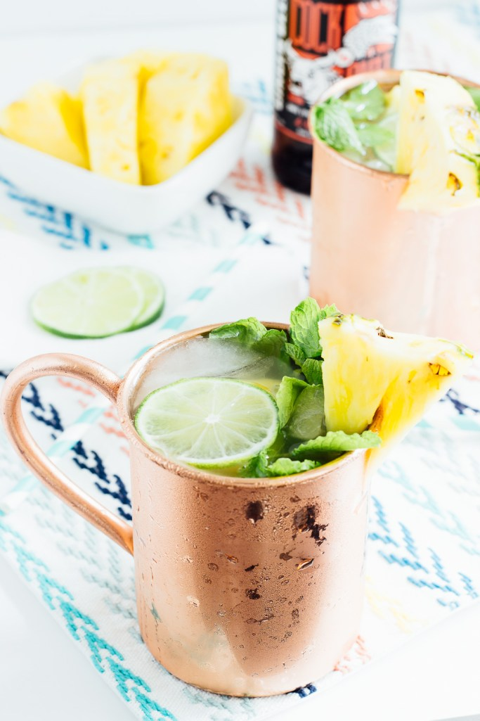 Pineapple Moscow Mules - Hot Beauty Health