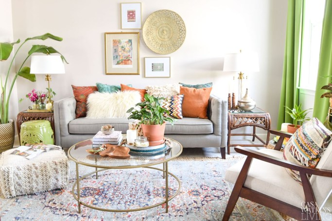 fall decorating ideas in global decor style