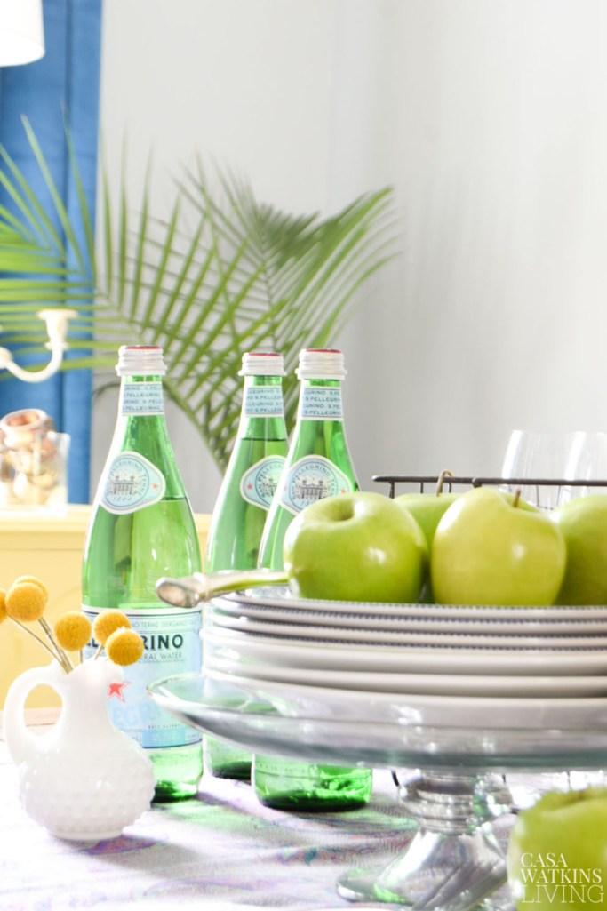 apple fall dining table vignette