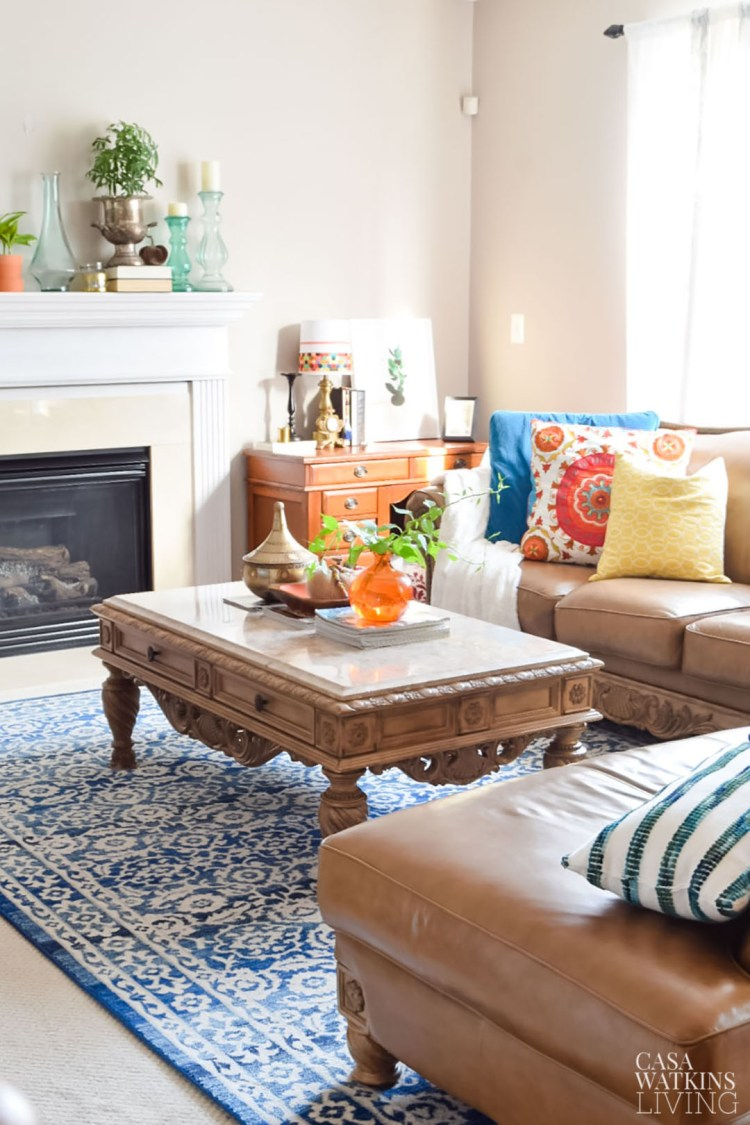 fall decorating with thrift store items