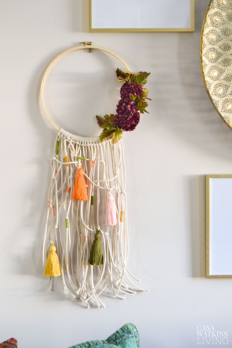 how to make boho macrame wreath for fall