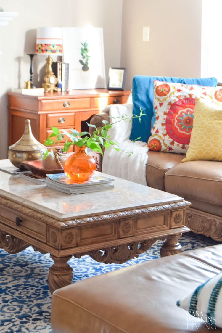 global eclectic fall decorating with thrift store items
