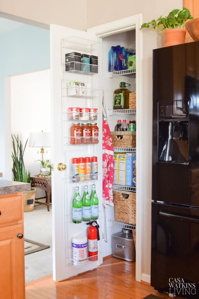 small kitchen pantry makeover