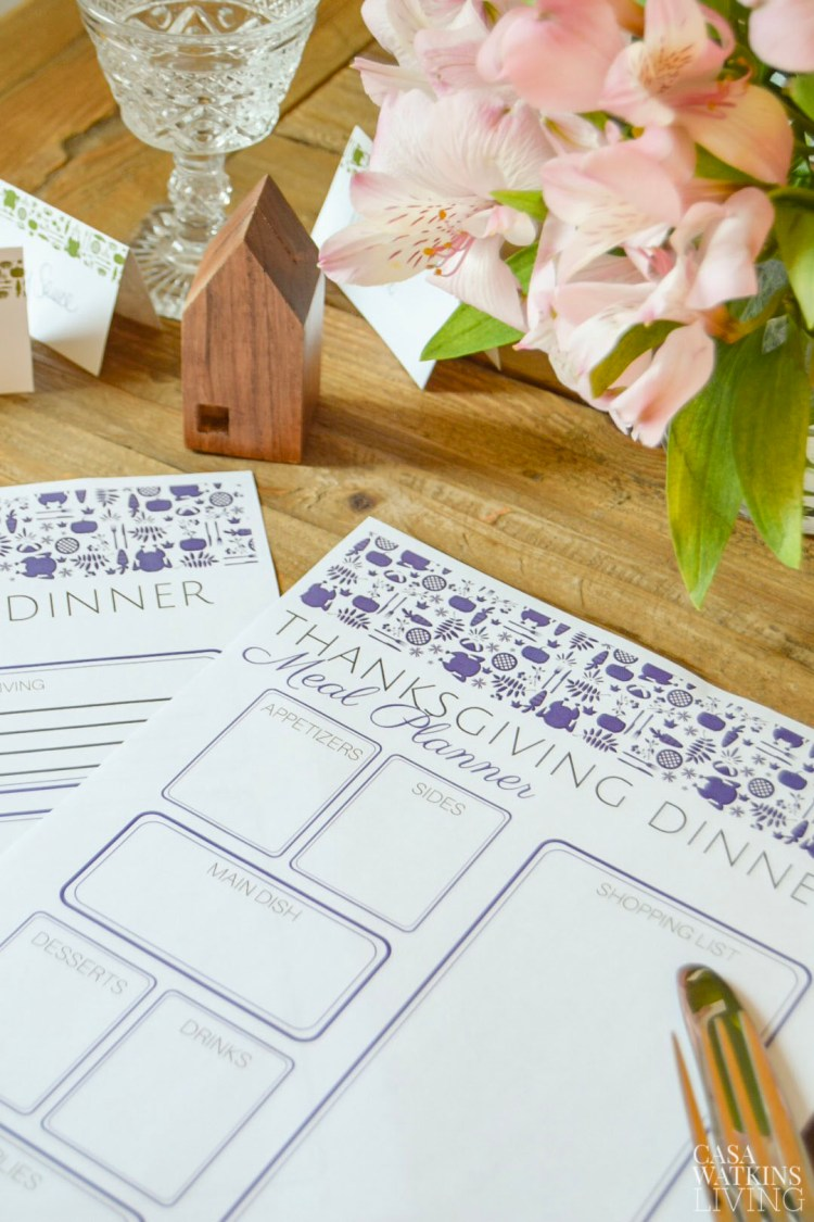 free printable thanksgiving menu planner and to do list! Otomi print comes in 4 more colors!