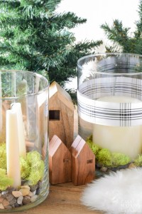 Simple Scandinavian Christmas Centerpiece ideas 2 Ways