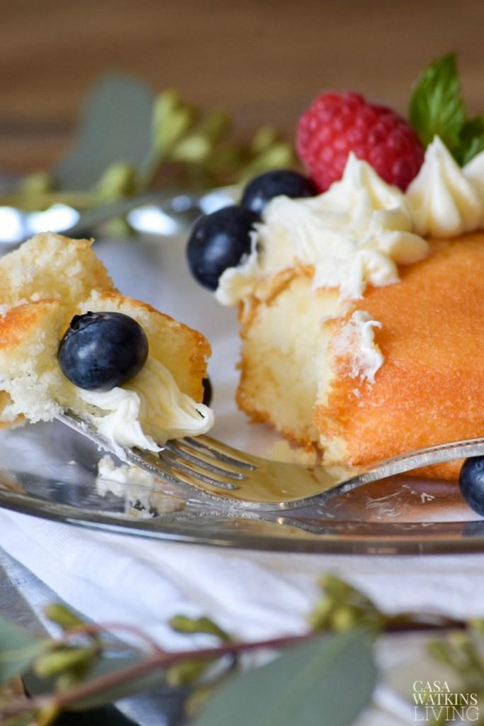Semi homemade pound cake with berries