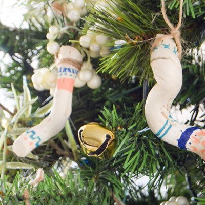 DIY Tribal Driftwood Ornaments