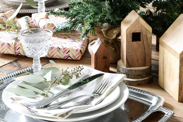 Global Bohemian Winter Dining Room