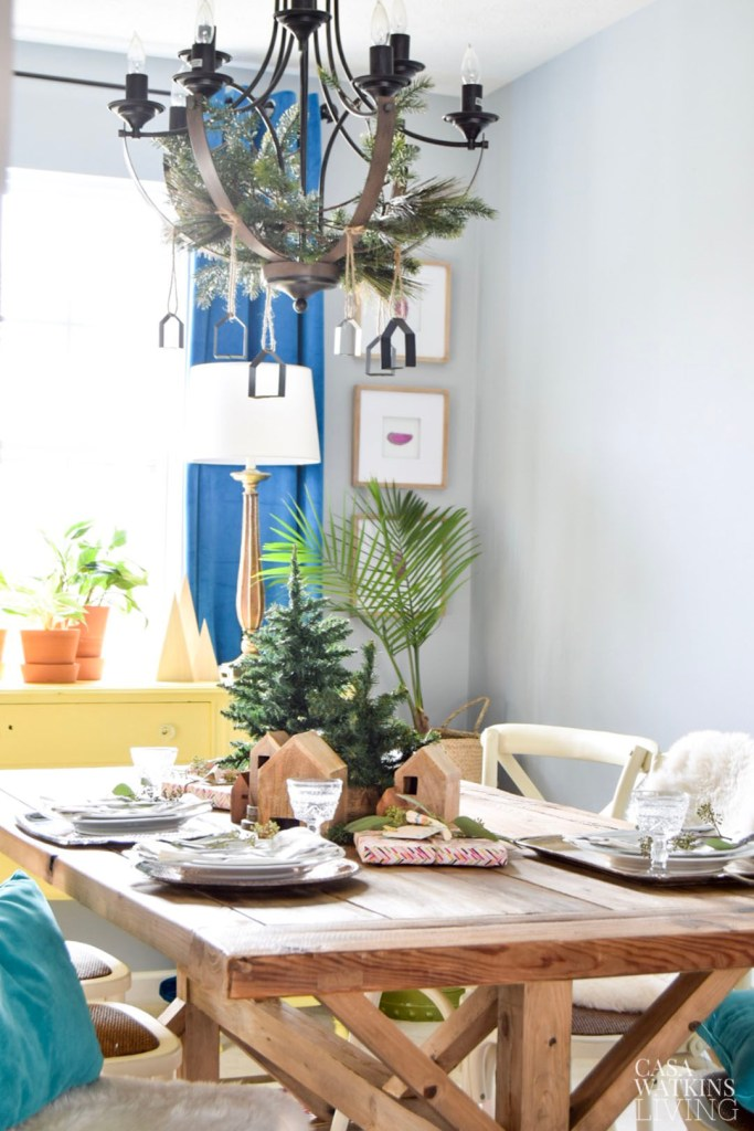 simple bohemian winter dining room decorating ideas