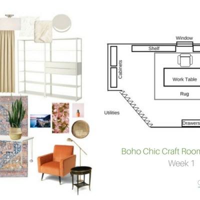 Boho Chic Craft Room Makeover: NYNR Refresh Challenge Week 1