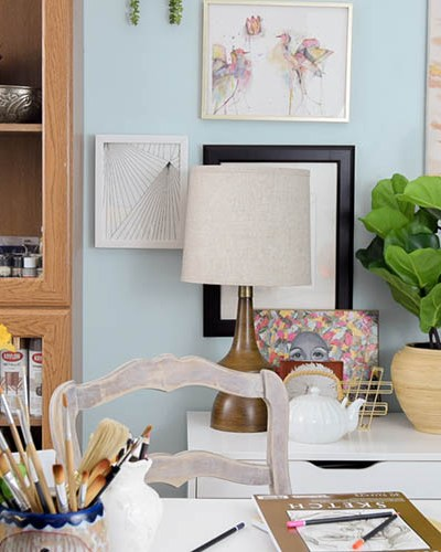 Boho Chic Craft Room and Office Reveal