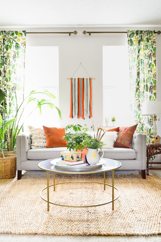 Decorating Our Bohemian Living Room for Summer - Casa Watkins Living