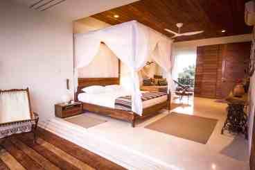Ocean Master Bedroom Suite sliding doors open on both sides for ultimate ocean and garden views.