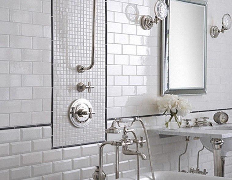 Resultado de imagen de azulejos blancos baño