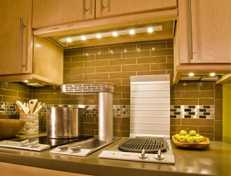 cocina iluminación led moderna mueble