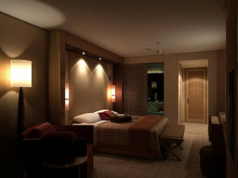 habitacion moderna lamparas sofa cama