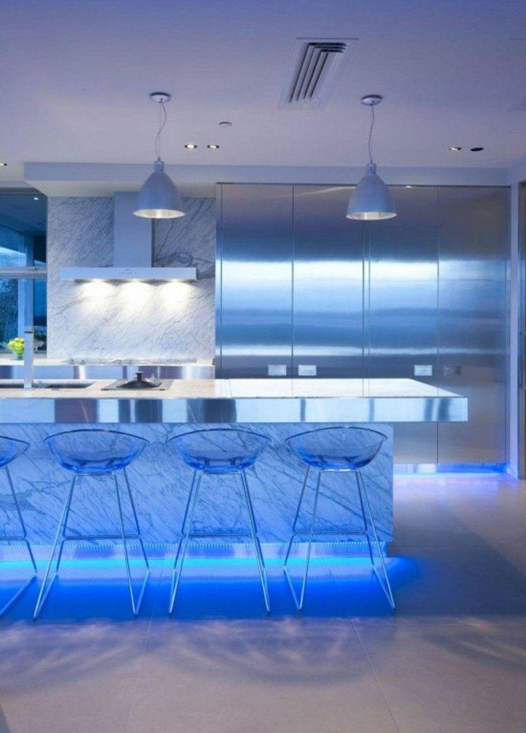 iluminación led sillas lamparas cocina