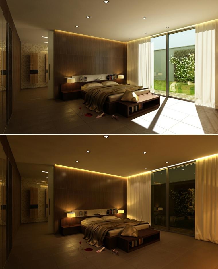 madera panel led ideas  habitacion